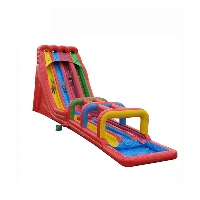 commercial inflatable water slide with pool