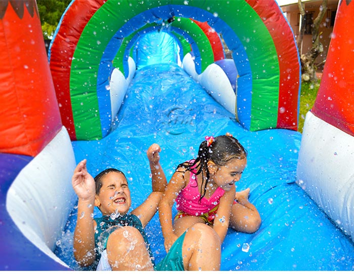 blow up water slide for pool