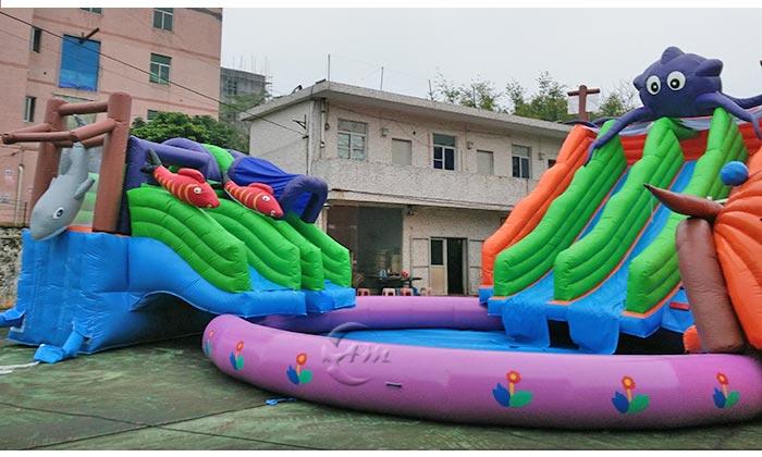 garden water slide