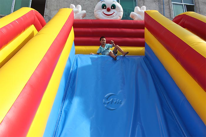 large blow up water slide