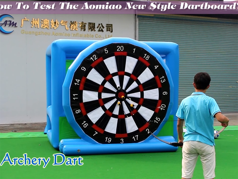 How to test the inflatable dartboard
