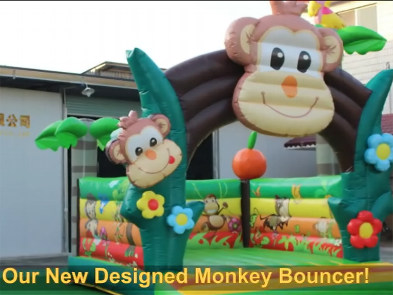 How Much Fun With Our Monkey Bouncer