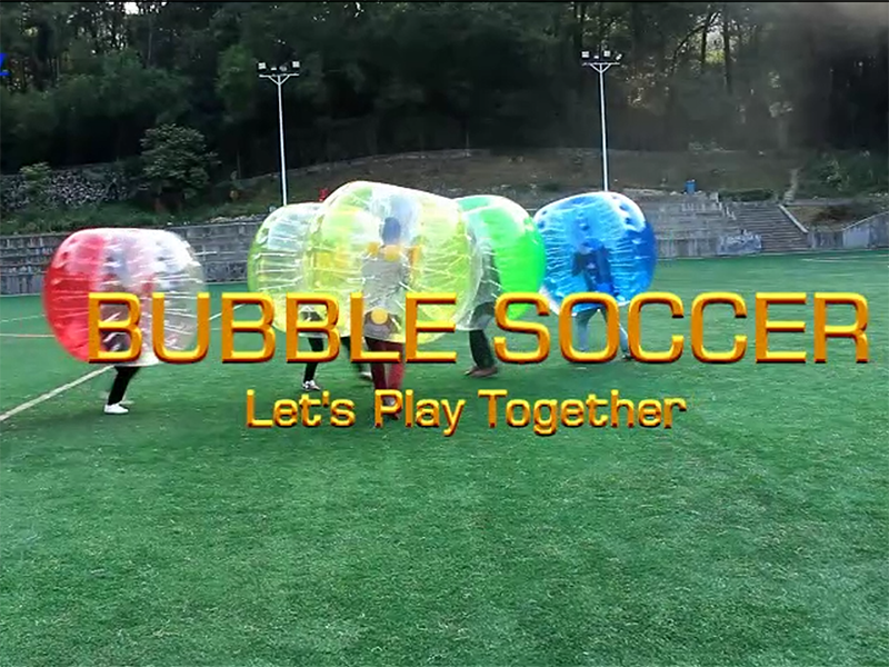Our bubble soccer activity, let's  bounce together