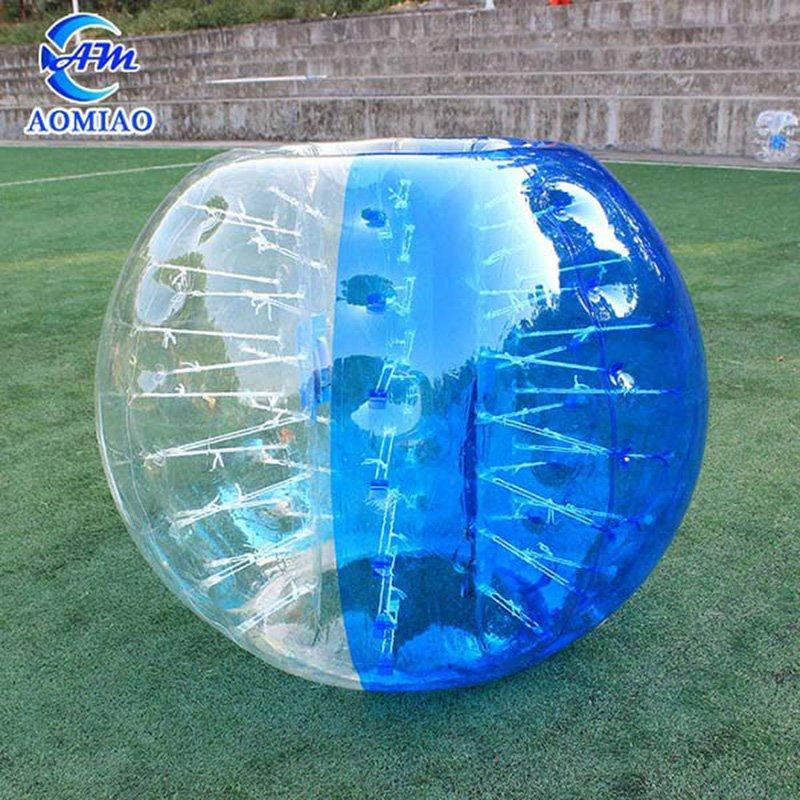 Half Blue Human Soccer Bubble BS2B