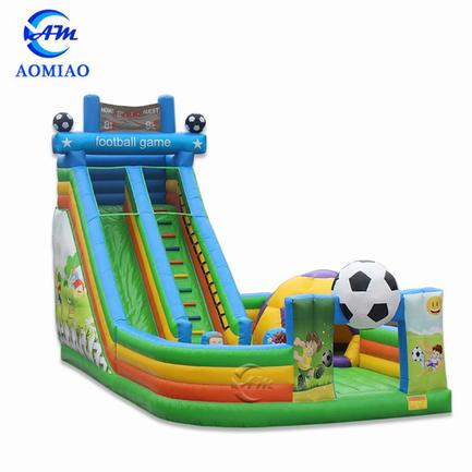 36ft Soccer Themed Commercial Inflatable Slide - SL1703
