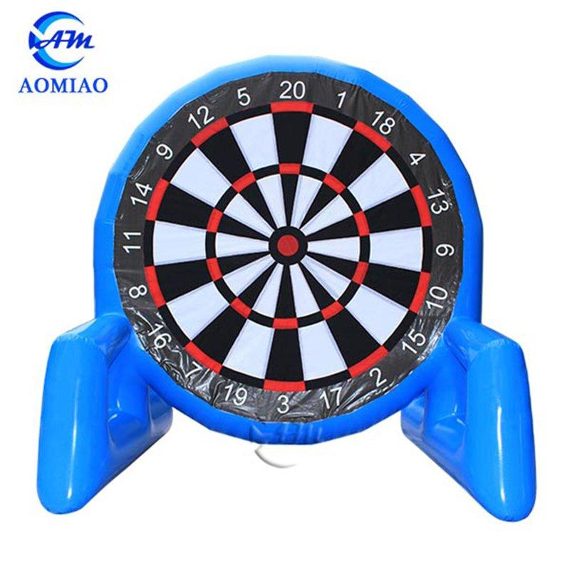 Outdoor Toys Blue Air-tight Inflatable Velcro Soccer Darts Board SD2