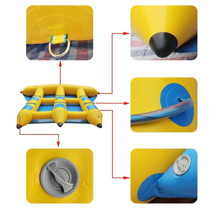 flying inflatable raft