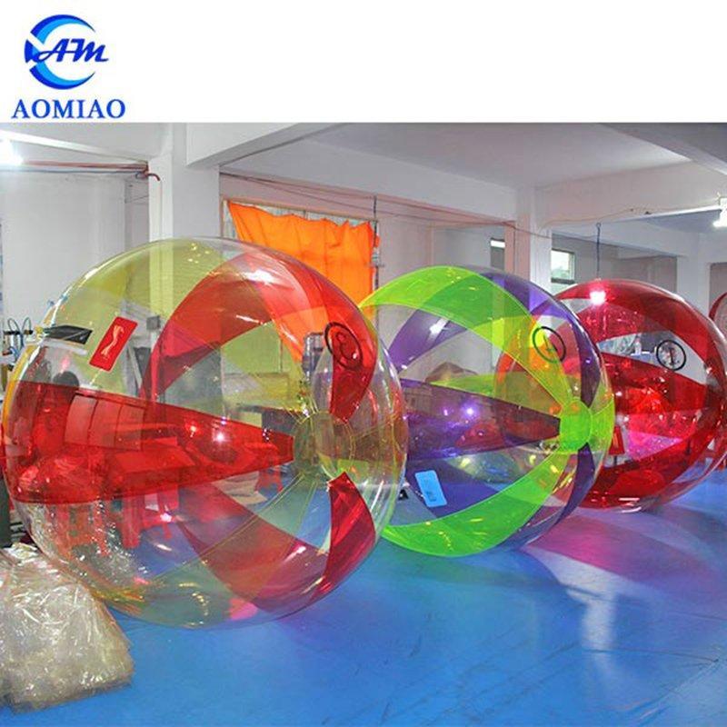 Colorful TPU/PVC Inflatable Water Walking Ball Human Water Hamster Ball WB2C