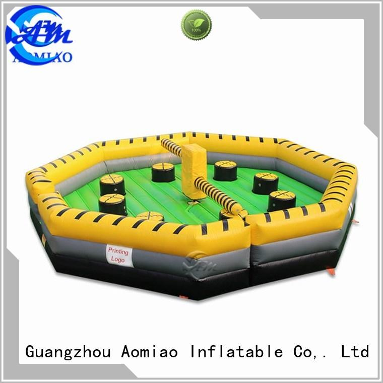 wipeout game meltdown inflatable inflatable bouncy castle with water slide AOMIAO Brand