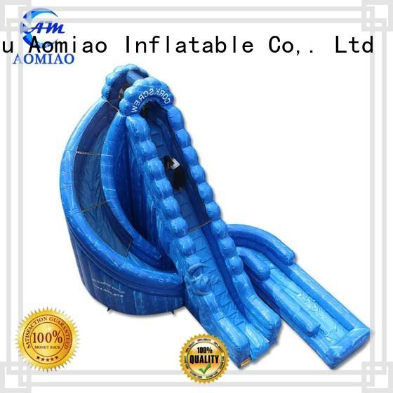 Hot inflatable slide blue AOMIAO Brand