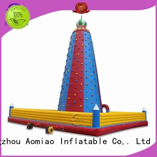 AOMIAO impressive inflatable rock wall supplier for child