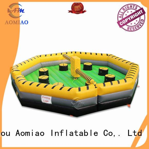 wipeout outdoor inflatable inflatable bouncy castle with water slide AOMIAO