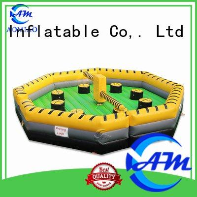 inflatable bouncy castle with water slide wipeout inflatable outdoor meltdown Bulk Buy