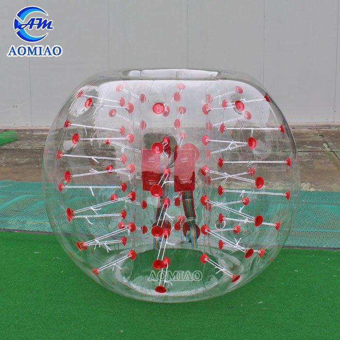 PVC Bubble Soccer Suits - Red/Blue Dot BSP5D
