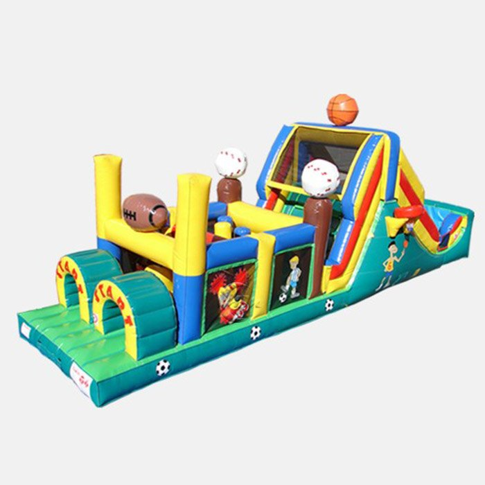 bouncy castle obstacle course