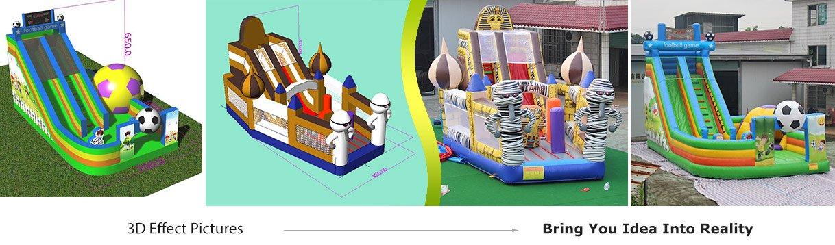 inflatable slide free design