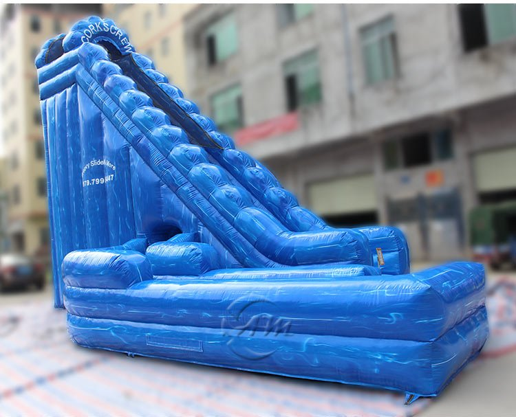 inflatable corkscrew water slide