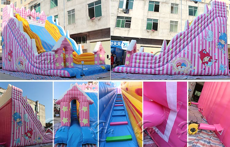 garden inflatable water slide