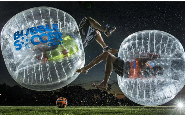 bubble soccer funny
