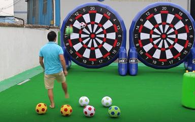 velcro soccer dart board