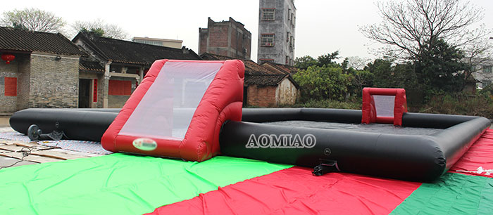 inflatable soccer field water