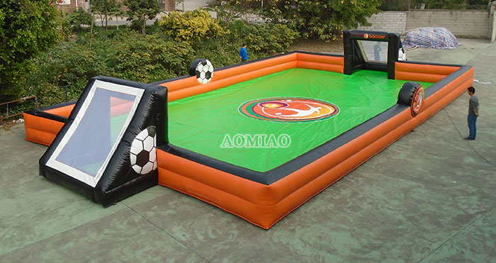 blow up football pitch
