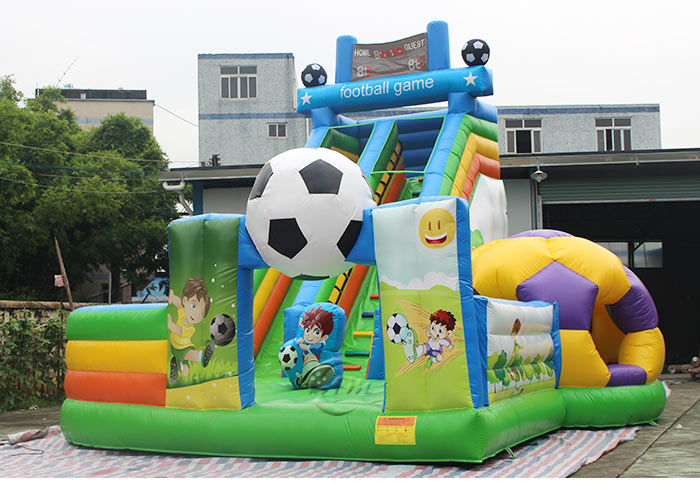 Soccer Themed Commercial Inflatable Slide