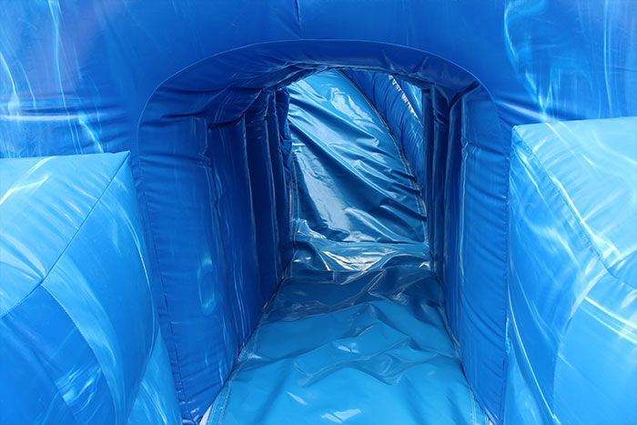 inflatable double slip and slide