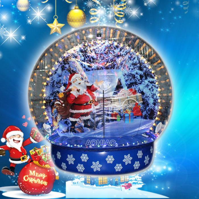 Outdoor Christmas Decorations Human Inflatable Christmas Snow Globe - SGg1802