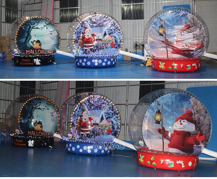 human inflatable snow globe