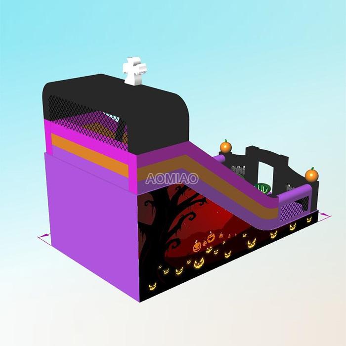 halloween inflatable slide for kids