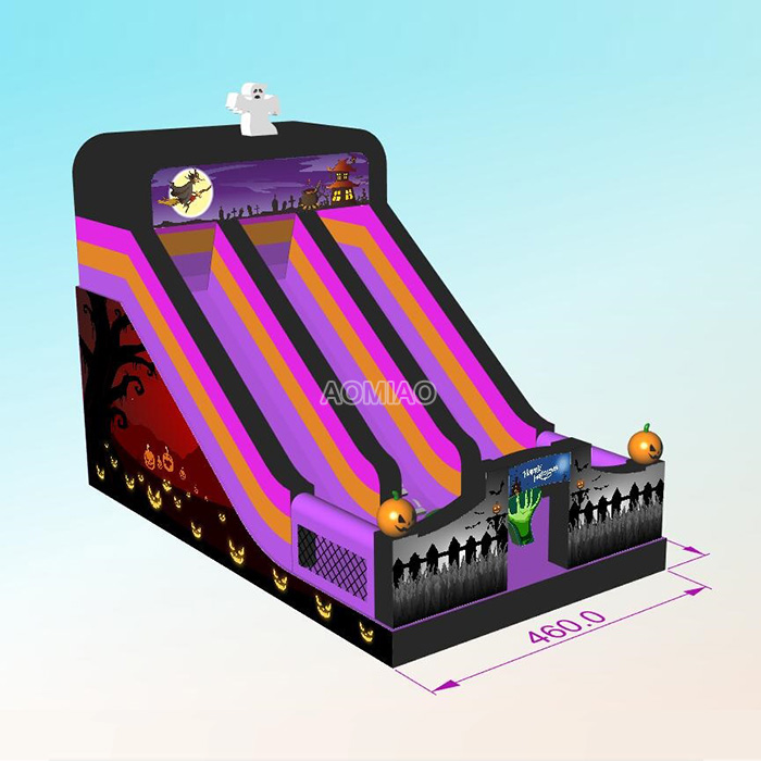 halloween inflatable slide for adult