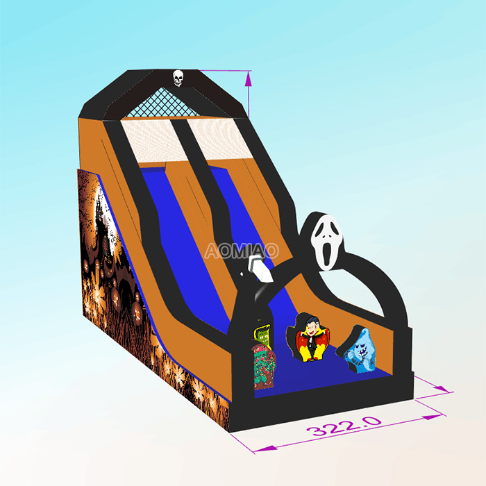 Halloween Outdoor Inflatable Slide
