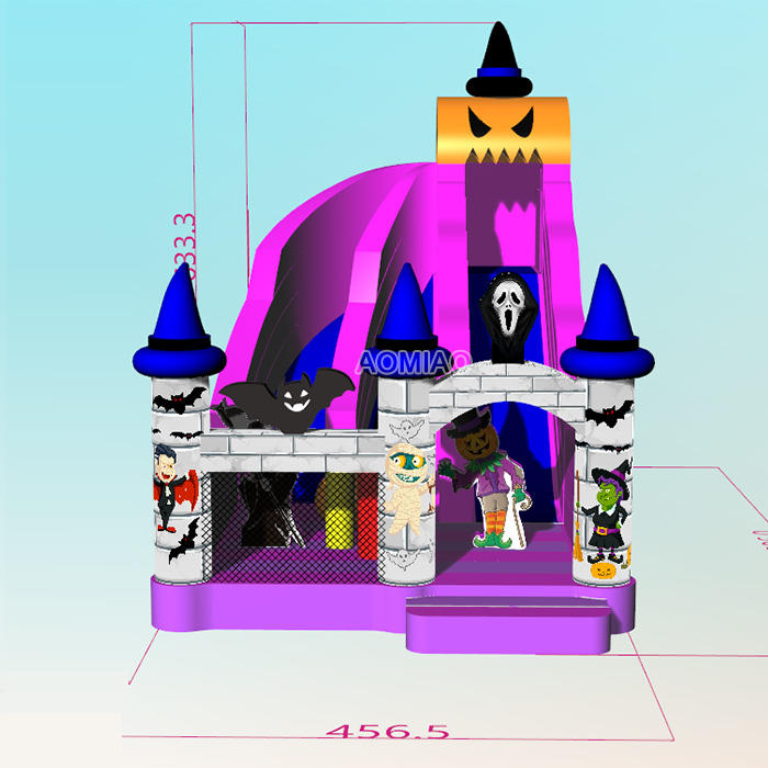 29FT Commercial Customized Halloween Large Inflatable Slide For Sale - HW04