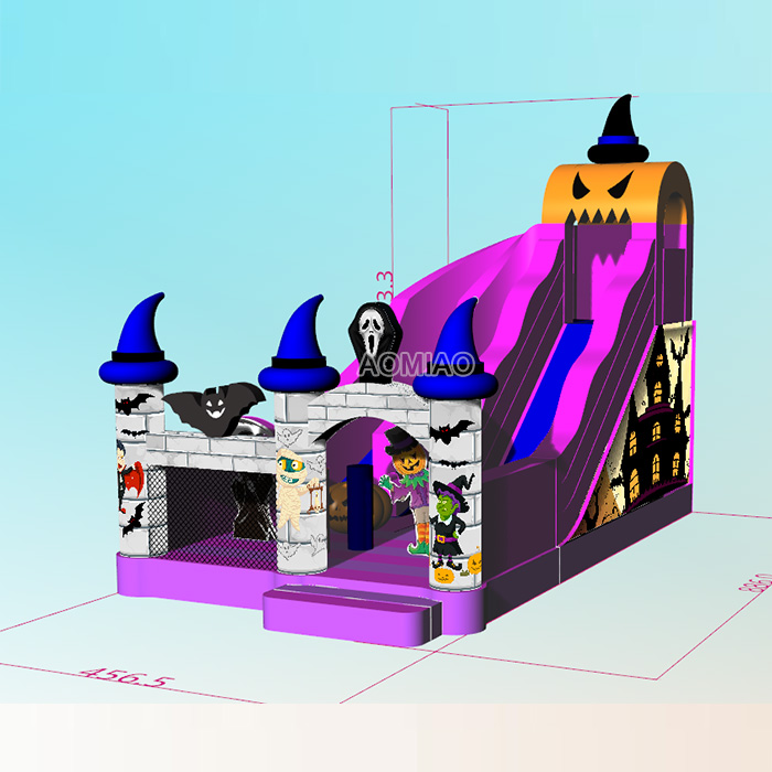 halloween inflatable slides for sale