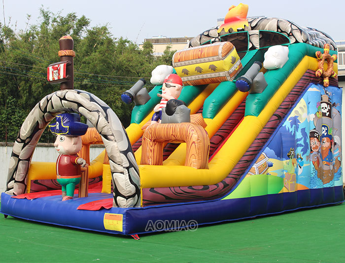 pirate ships inflatable slide