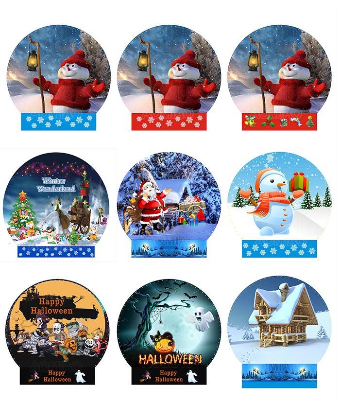 different inflatable snow globe