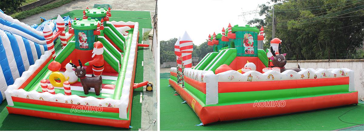 Christmas Inflatable Amusement Park Backyard Playground