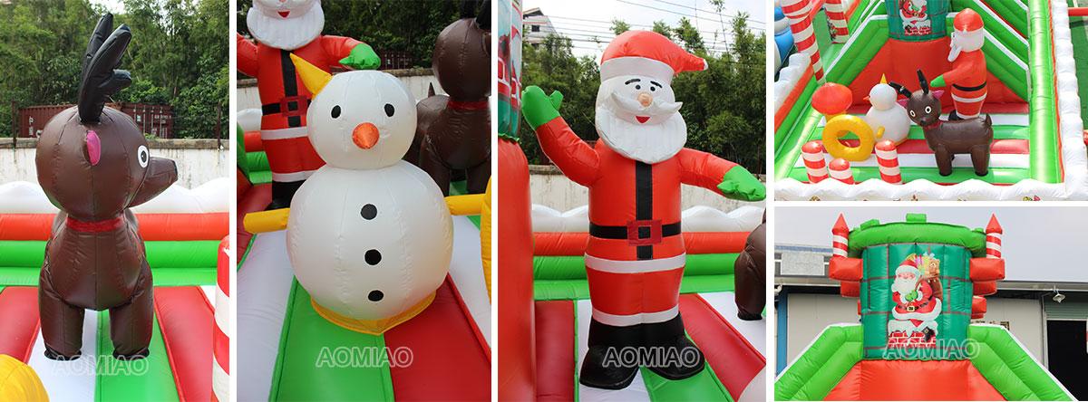 Christmas Inflatable Backyard Playground