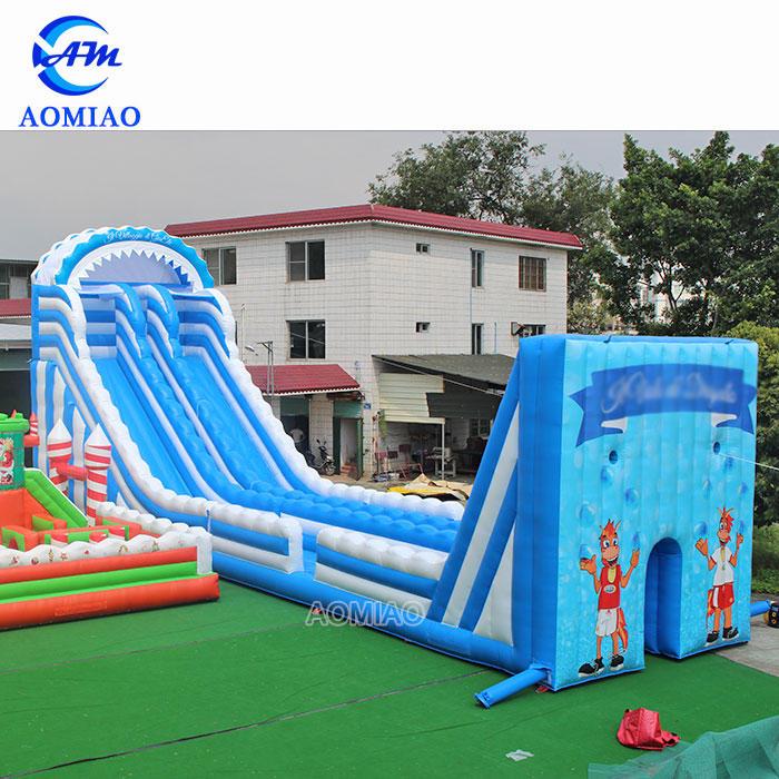 66FT Customized Giant Adult Inflatable Zip Line Slide With Long Slip N Slide - SL1878