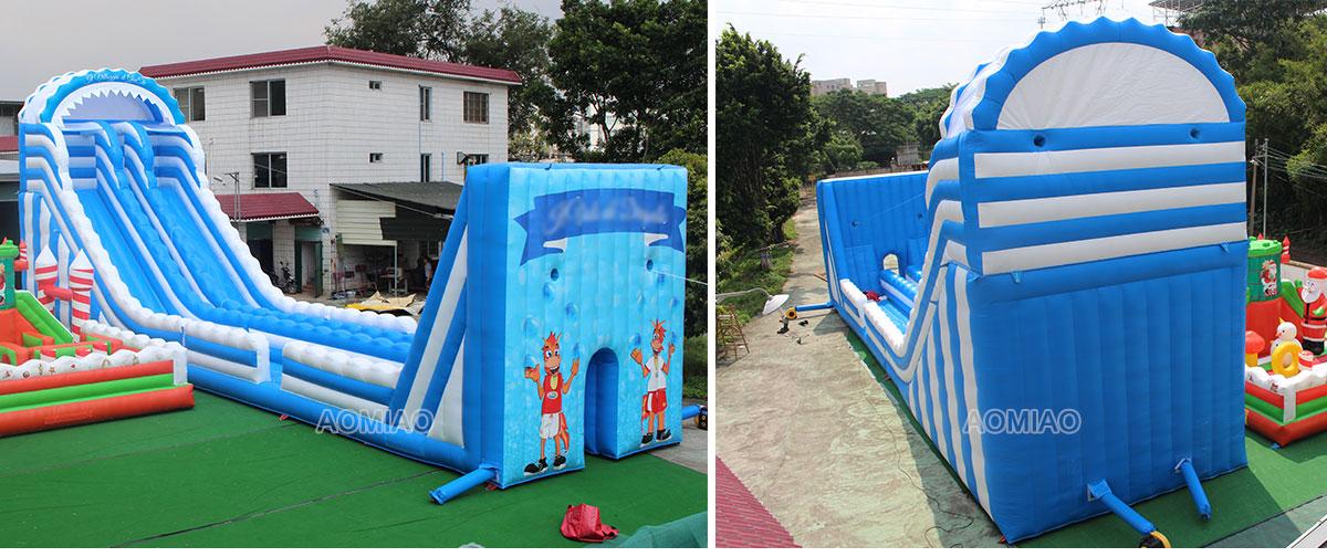 inflatable zip line slide