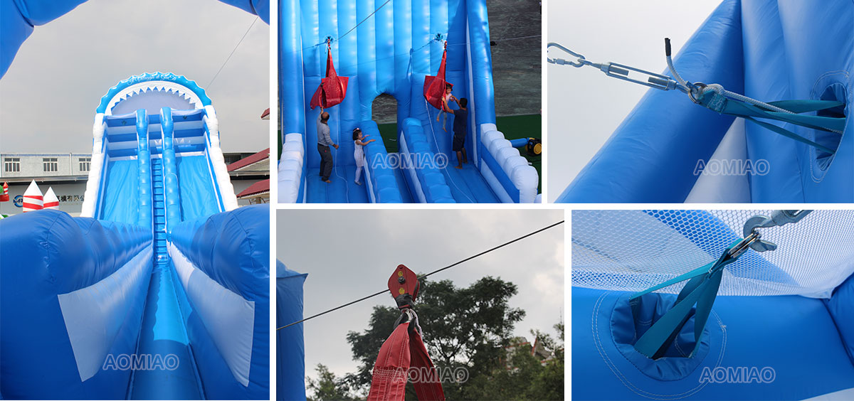 inflatable zip line slide for adult