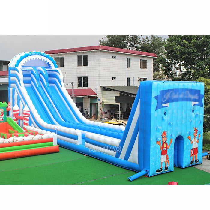inflatable zip line slide for kids