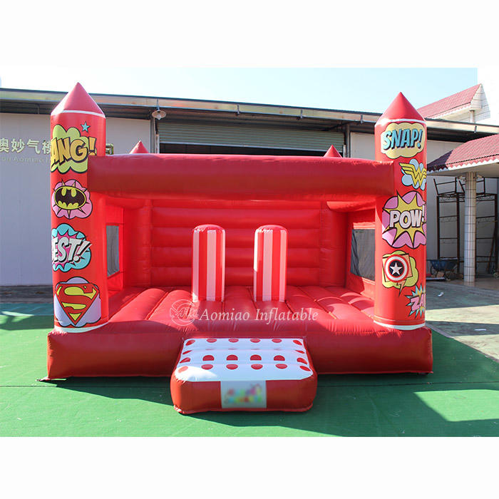 5x4m Customized Red Inflatable Commercial Bounce House For Sale - BO1788