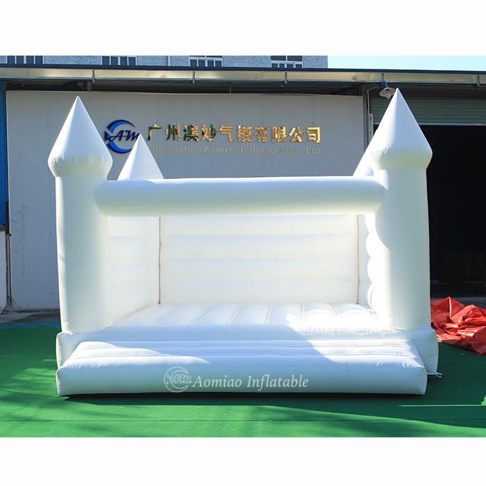 5 x 4m White Jumping Castles Wedding Bouncy Castle - BO1789