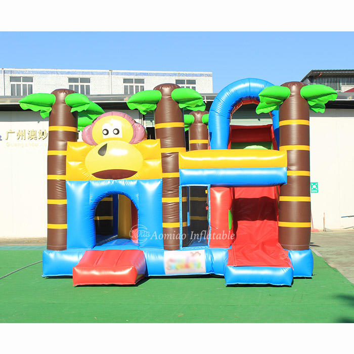 5 x 5m Cheap Inflatable Jumping Castle Bounce Houses With Slide - Monkey BO1790