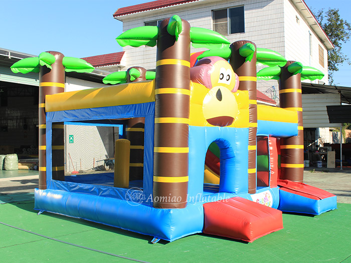 monkey bounce house with slide