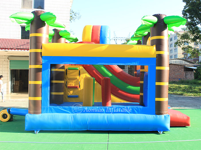 giant bounce house with slide