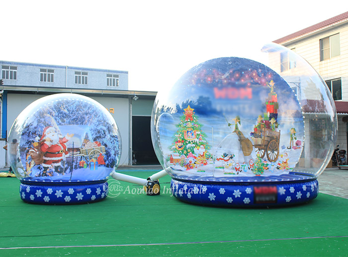 christmas blow up snow globe