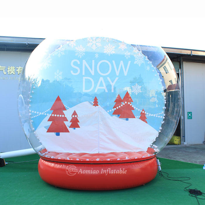 Dia 4m Inflatable Christmas Yard Decorations Inflatable Lighted Snow Globe